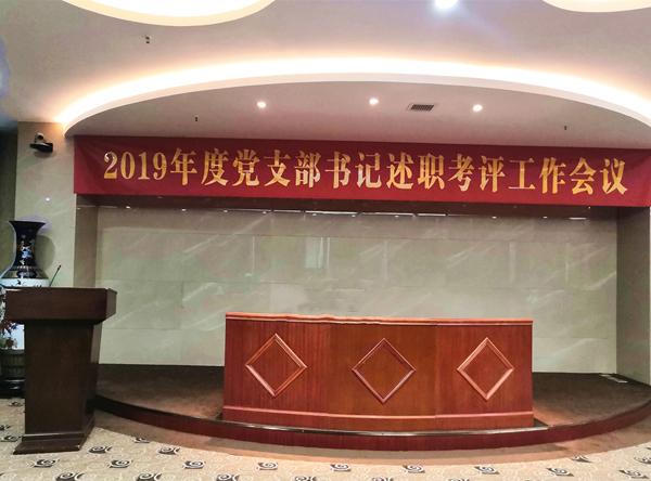 靖江市医疗集团党委开展2019年度党支部书记述职评议考核工作